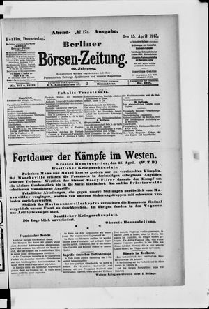 Berliner Börsen-Zeitung vom 15.04.1915
