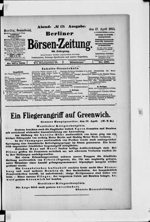 Berliner Börsen-Zeitung vom 17.04.1915