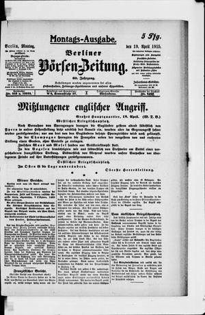 Berliner Börsen-Zeitung vom 19.04.1915