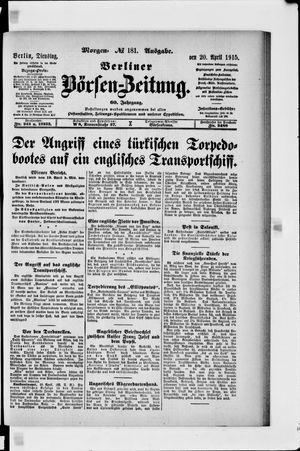 Berliner Börsen-Zeitung vom 20.04.1915