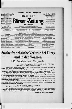 Berliner Börsen-Zeitung vom 21.04.1915