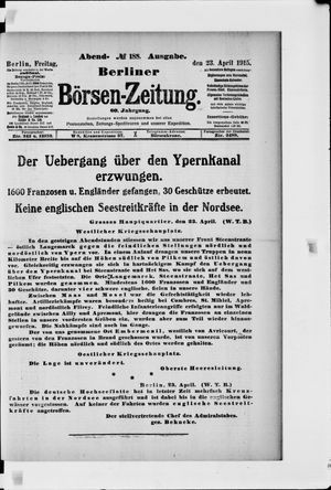 Berliner Börsen-Zeitung vom 23.04.1915