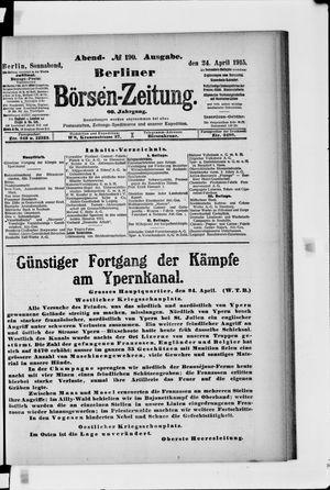 Berliner Börsen-Zeitung vom 24.04.1915