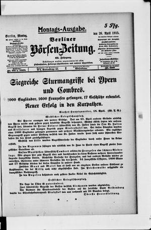 Berliner Börsen-Zeitung vom 26.04.1915