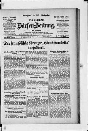 Berliner Börsen-Zeitung vom 28.04.1915