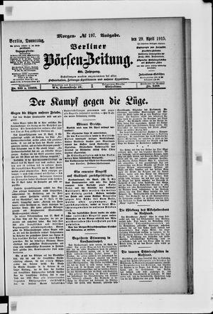 Berliner Börsen-Zeitung vom 29.04.1915