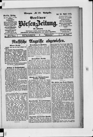 Berliner Börsen-Zeitung vom 30.04.1915