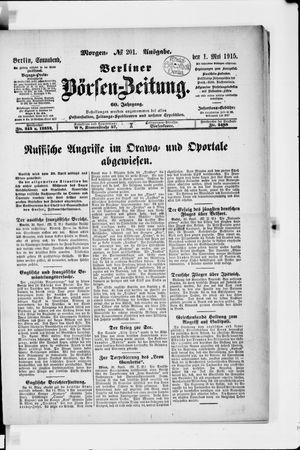 Berliner Börsen-Zeitung vom 01.05.1915