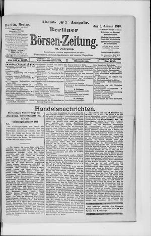 Berliner Börsen-Zeitung vom 03.01.1916