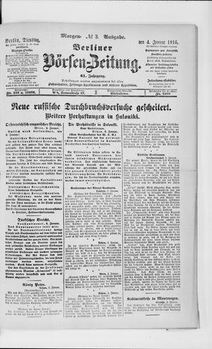 Berliner Börsen-Zeitung vom 04.01.1916