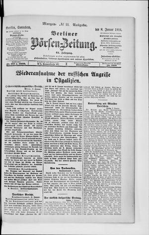 Berliner Börsen-Zeitung vom 08.01.1916