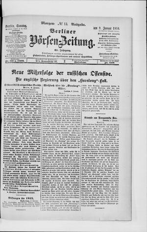Berliner Börsen-Zeitung on Jan 9, 1916