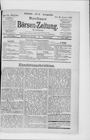 Berliner Börsen-Zeitung vom 11.01.1916