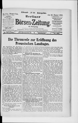 Berliner Börsen-Zeitung vom 13.01.1916