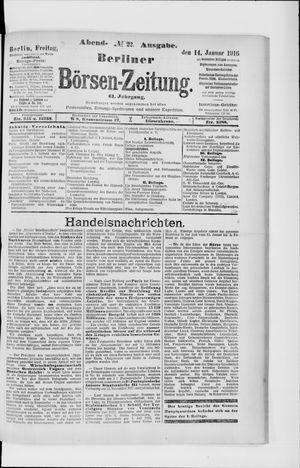 Berliner Börsen-Zeitung vom 14.01.1916