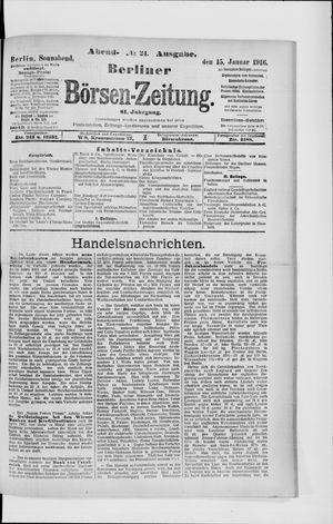 Berliner Börsen-Zeitung vom 15.01.1916