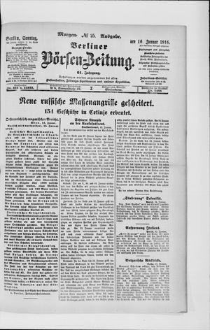 Berliner Börsen-Zeitung on Jan 16, 1916