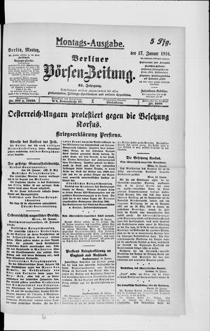 Berliner Börsen-Zeitung on Jan 17, 1916