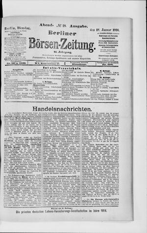 Berliner Börsen-Zeitung vom 18.01.1916