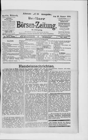 Berliner Börsen-Zeitung vom 19.01.1916