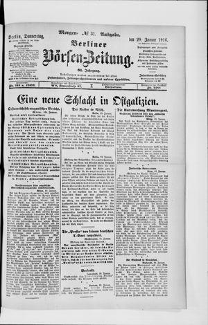Berliner Börsen-Zeitung vom 20.01.1916