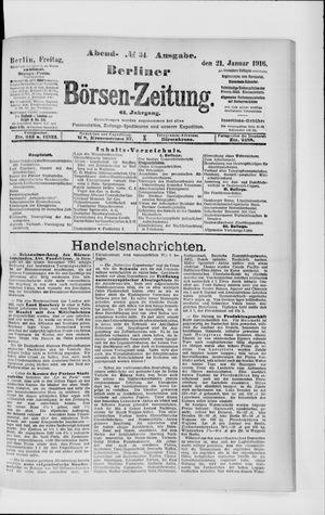 Berliner Börsen-Zeitung on Jan 21, 1916