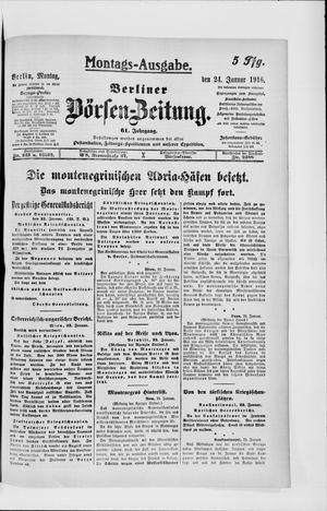 Berliner Börsen-Zeitung vom 24.01.1916