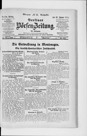 Berliner Börsen-Zeitung vom 28.01.1916