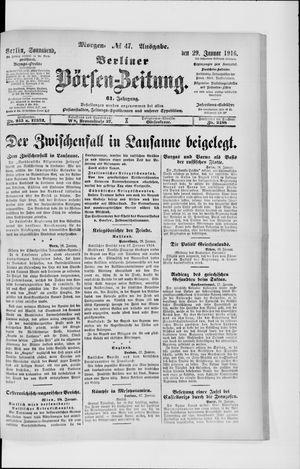 Berliner Börsen-Zeitung on Jan 29, 1916