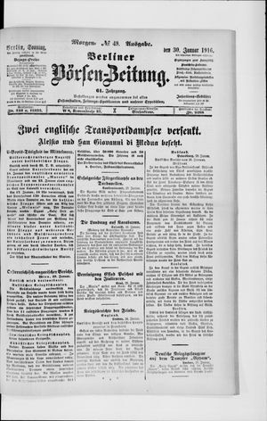 Berliner Börsen-Zeitung vom 30.01.1916