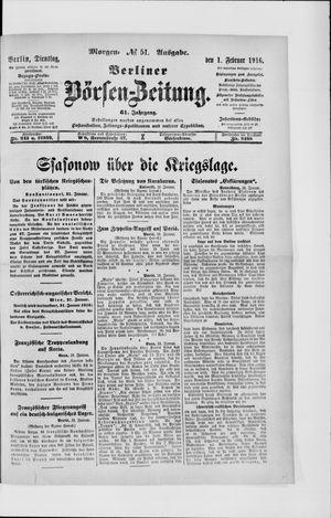 Berliner Börsen-Zeitung vom 01.02.1916