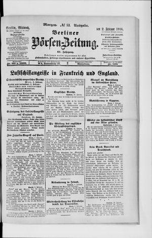 Berliner Börsen-Zeitung vom 02.02.1916