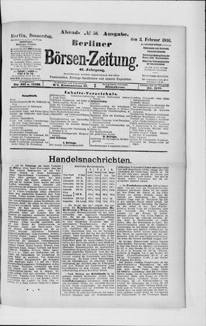 Berliner Börsen-Zeitung vom 03.02.1916