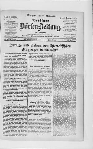 Berliner Börsen-Zeitung vom 04.02.1916
