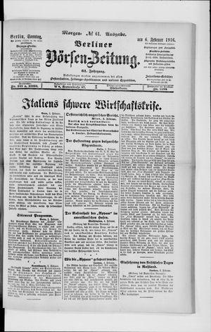 Berliner Börsen-Zeitung vom 06.02.1916