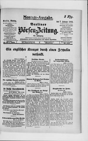Berliner Börsen-Zeitung vom 07.02.1916