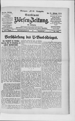 Berliner Börsen-Zeitung vom 11.02.1916