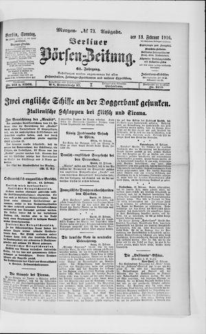 Berliner Börsen-Zeitung vom 13.02.1916