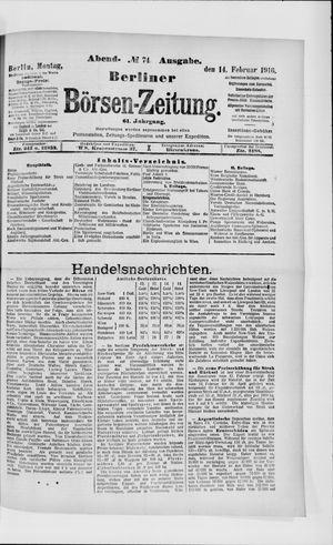 Berliner Börsen-Zeitung vom 14.02.1916