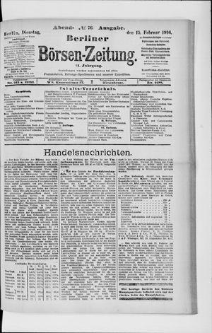Berliner Börsen-Zeitung on Feb 15, 1916
