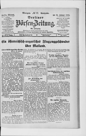 Berliner Börsen-Zeitung vom 16.02.1916