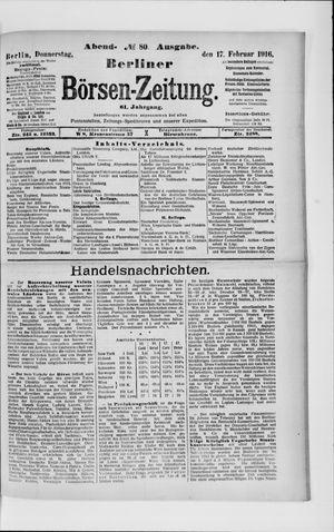Berliner Börsen-Zeitung vom 17.02.1916
