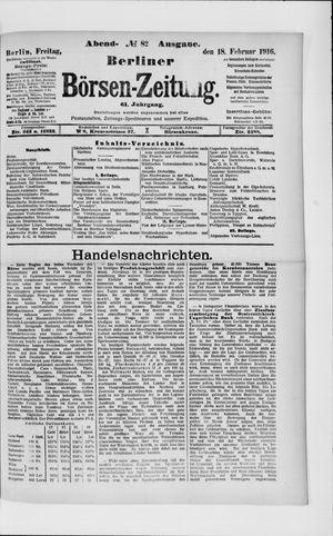 Berliner Börsen-Zeitung vom 18.02.1916