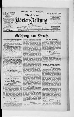 Berliner Börsen-Zeitung vom 19.02.1916
