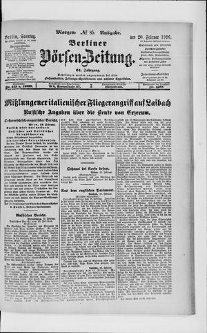 Berliner Börsen-Zeitung vom 20.02.1916