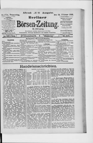 Berliner Börsen-Zeitung vom 24.02.1916