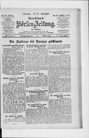 Berliner Börsen-Zeitung vom 25.02.1916