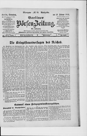 Berliner Börsen-Zeitung vom 26.02.1916