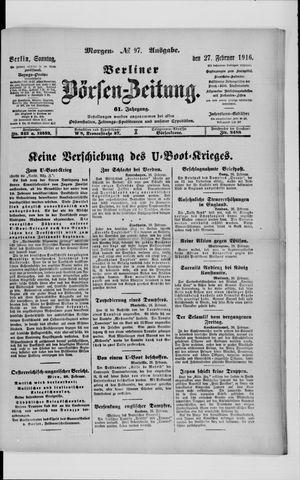Berliner Börsen-Zeitung vom 27.02.1916