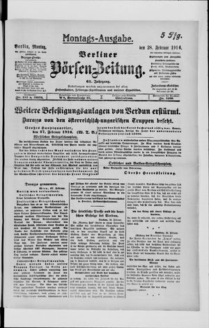Berliner Börsen-Zeitung vom 28.02.1916